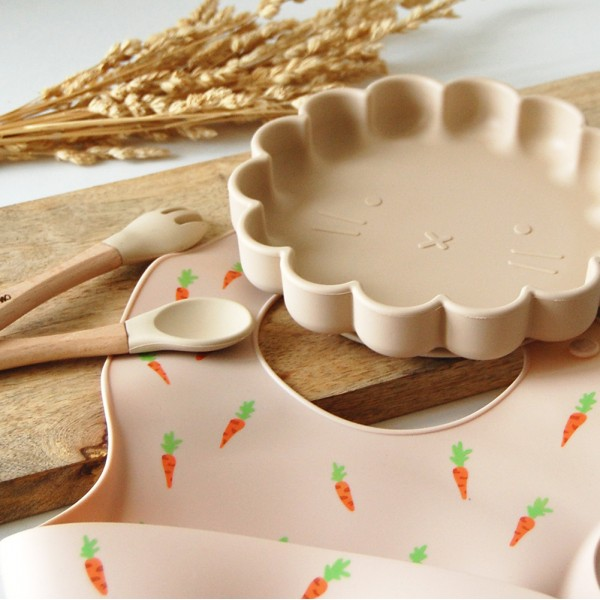 Assiette lion + cuillère et fourchette personnalisées