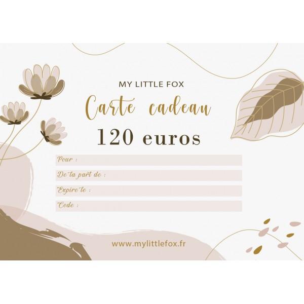 Carte cadeau 120 euros
